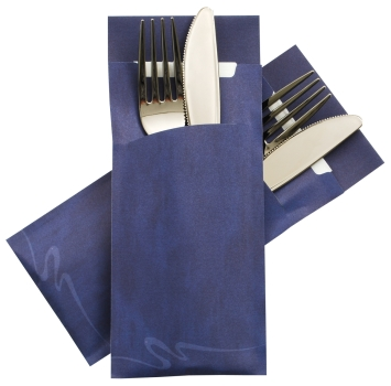 Silverware bag Pochetto dark blue