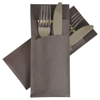 Silverware bag Pochetto grey