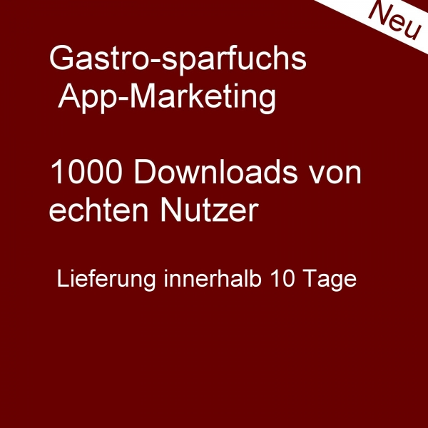 1000 Downloads für google-play store
